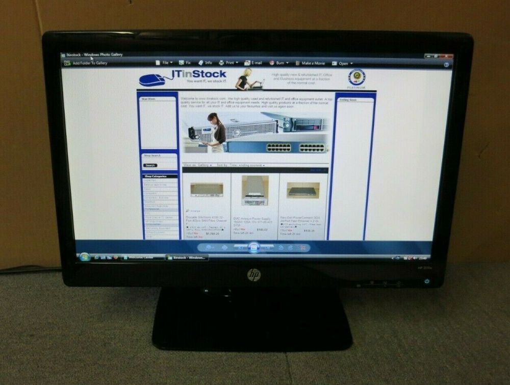 "HP 2011X 629103-001 654175-001 20"" LCD TFT LED Widescreen Monitor VGA DVI"